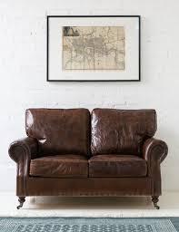 vintage leather sofa 2 seater