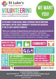 volunteer us st luke s hospice plymouth volunteer leaflet