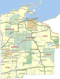 wisconsin indian head country map of bayfield, ashland, iron Ashland Map this section of wisconsin indian head country encompasses bayfield, ashland, iron, price, sawyer & rusk counties ashland maplewood