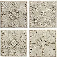 overstock inspired by the victorian era this set of four fleur wall plaques on victorian era wall art with metal art on a wood range hood or propped up against a kitchen wall