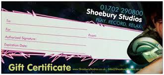 Gift Certificate Shoebury Studios