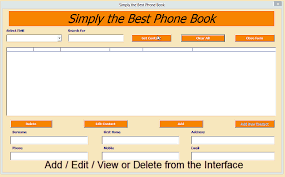 contact directory template excel phone book contact manager excel 2010 online pc learning