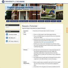 English Language Institute (Eli) Transcript Request Form | My Ud