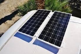 installing a renogy 200w solar kit in the rv solar panels location