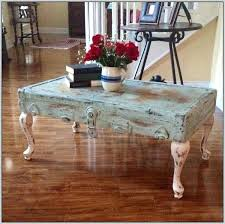 refinish coffee table shabby chic round white