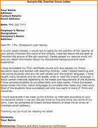 Cover Letter Template For English Teacher Example Sample Teach Best