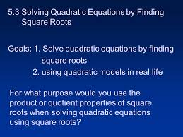 2 5 3 solving quadratic equations by finding