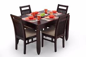 four chairs in dining room. ekbote furniture dining room four seater wooden table and chair set chairs in