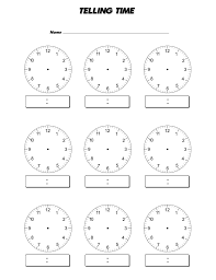 Blank Clock Face Worksheet | Kiddo Shelter