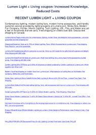 Lumens Lighting Promo Code Lumen Light Living Coupon By Gary Boben Issuu