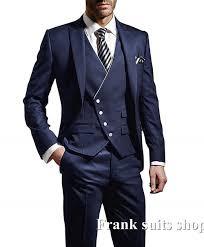 New Suit Design 2019 Man Us 57 67 27 Off 2019 Latest Coat Pant Designs Navy Blue Tuxedo Prom Wedding Men Suits Slim Fit 3 Piece Blazer Custom Jacket Groom In Suits From