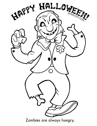 Small Picture Halloween Coloring Pages Zombie Coloring Page