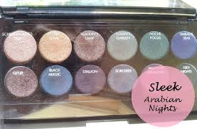 sleek makeup arabian nights i divine eyeshadow palette review and swatches
