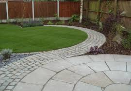 Small Picture Garden Ideas Garden Design Patio With Concrete Tiles Material And