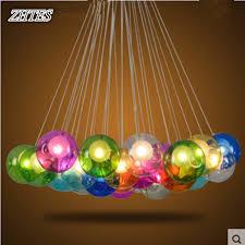 glass ball lighting. Restaurant Creative Chandelier Colored Glass Balls Bubble Dining Parlor LED Ball Lights Lighting