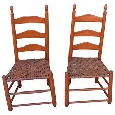 Image Design Pair Of Shaker Style Ladderback Chairs For Sale 1stdibs Pair Of Shaker Style Ladderback Chairs For Sale At 1stdibs