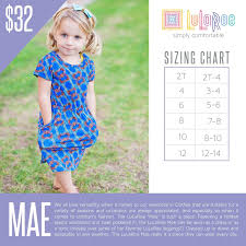 Lularoe Kids Size Chart Lularoe Mae Size Chart With Price Lularoe Mae Dress
