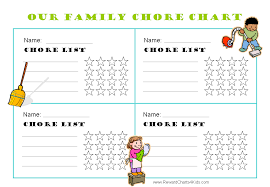 Printable Chore Charts For Multiple Children In 2019