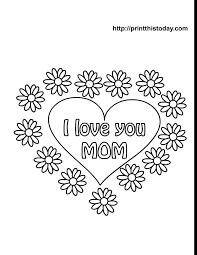 Free Mothers Day Coloring Pages Printable