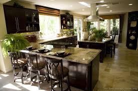 kitchen designs dark cabinets. Dark Wood Cabinets And Lots Of Natural Light Combine Nicely In This Welcoming Kitchen Designs E