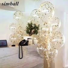10pcs lot clear balloons blue black white confetti transparent christmas birthday baby shower wedding party decorations