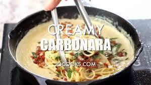 creamy carbonara jo cooks
