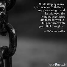 While Sleeping In My Apa Quotes Writings By Hafizunisa Shabbu