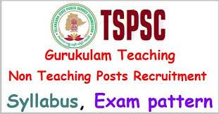 Tspsc Gurukul Teacher Syllabus Exam Pattern 2017 Govtjobs2k