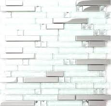 aqua tile incredible strip silver stainless steel mixed clear glass mosaic tiles for with inspirations 7 blue backsplash subway st