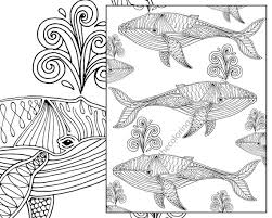 Small Picture whale adult coloring page nautical adult coloring sheet
