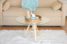 coffee table base ideas round glass with woo
