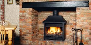 traditional open fire firebox
