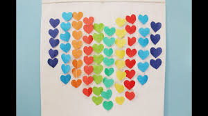 diy home decor idea simple paper craft heart decors in living room easy paper crafts