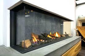 open fireplace doors glass