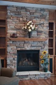 Rock Fireplace With Ashlar Pattern