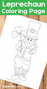 Adorable Leprechaun Coloring Page St Patrick