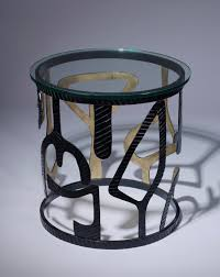 wrought iron side table. Pair Of Unique Modern Wrought Iron \u0027miro\u0027 Side Tables In Black, Gold Finish Table M