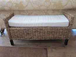 rattan bench with a cushion furniture pinterest rattan benches