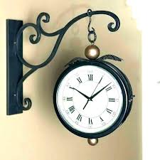 two sided wall clock two sided wall clock large decorative wall clocks hanging double sided wall