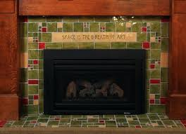 fireplaces home arts crafts style feature and fireplace mantel plans copper screens