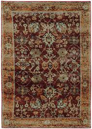 oriental weavers andorra 7154a red gold area rugs