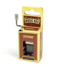 kikkerland yesterday music box  novelty toys  novelties  gifts