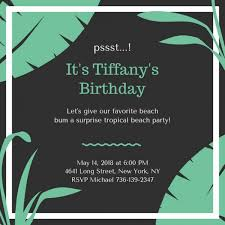 Awesome Surprise Birthday Invitation Templates Picture