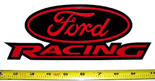 black ford racing logo. ford racing logo very bold high gloss red on black hq vinyl decals 9
