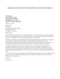 Education Cover Letters Education Job Cover Letter Sample Teacher Cover Letter