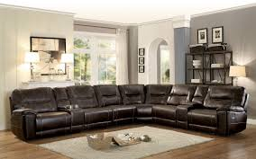 brown sectional sofas. Wonderful Sofas Homelegance Columbus Reclining Sectional Sofa Set A  Breathable Faux  Leather Dark Brown And Sofas C