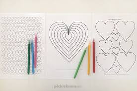 Use my easy heart owl craft printable as part of your letter recognition studies. Heart Colouring Pages Free Printable Picklebums