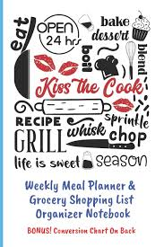 Kiss The Cook Weekly Meal Planner Grocery Shopping List