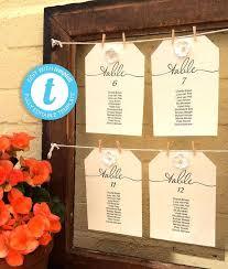 Printable Wedding Seating Chart Kit Editable Single Table