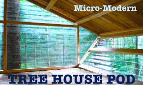 Modern Tree Houses Micro Modern Tree House Built At Tiny House Summer Camp Vt